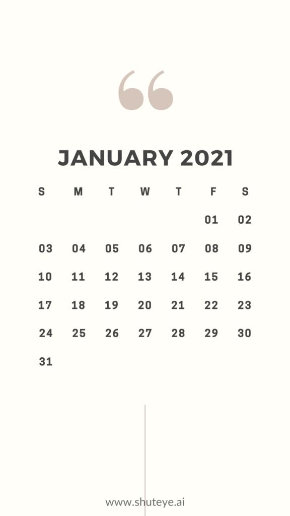 Printable January Calendar 2021 | Free Printable Calendars