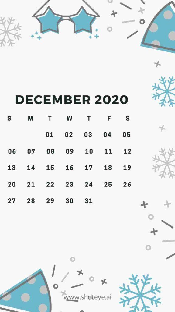 ShutEye Free Printable December Calendar