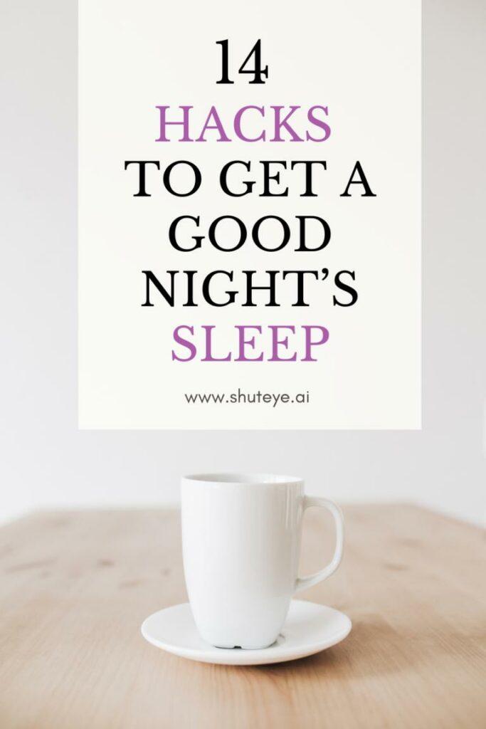 ShutEye sleep hygiene tips sleep advice habits
