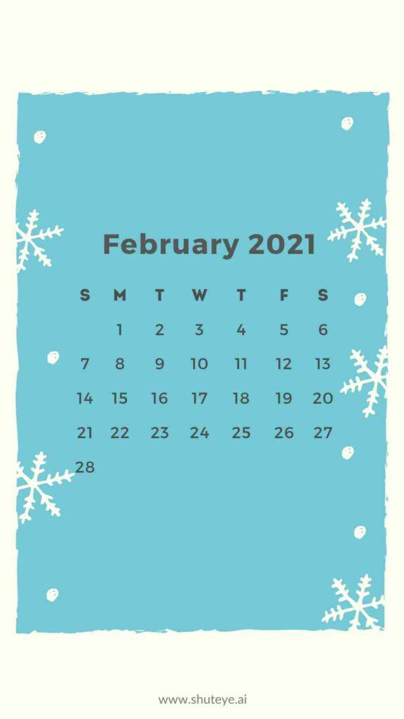 ShutEye Free Printable February Calendar1