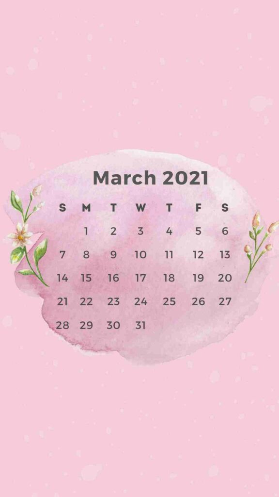 ShutEye Free Printable March Calendar1