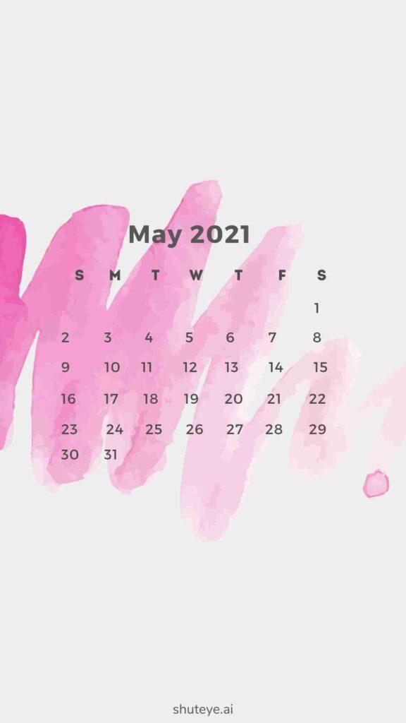 ShutEye Free Printable May Calendar1