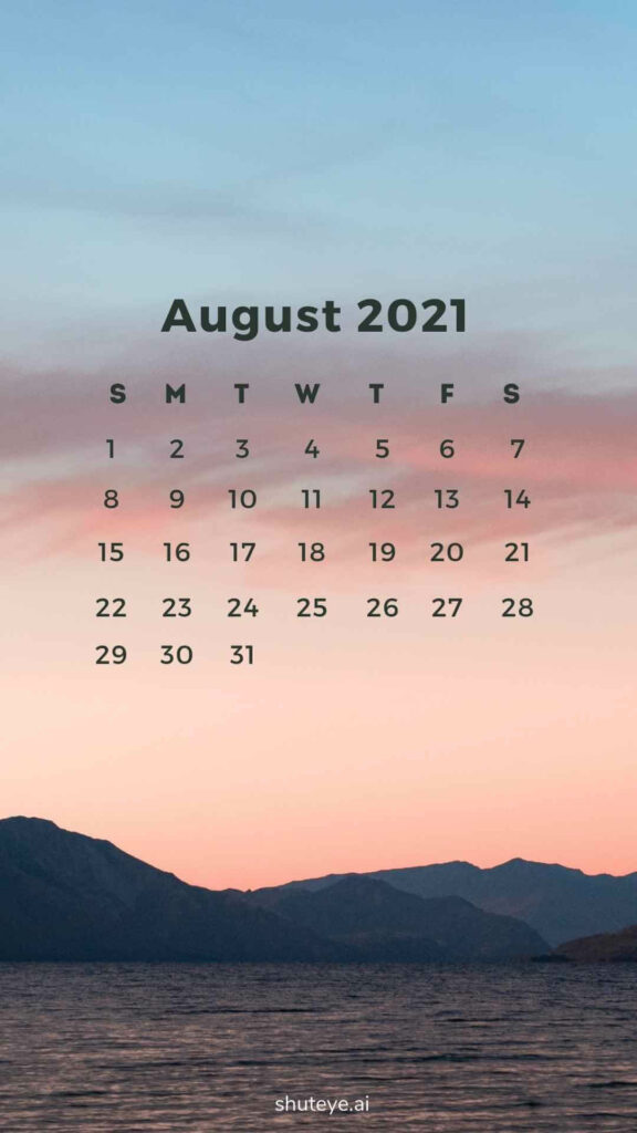 ShutEye Free Printable August Calendar1