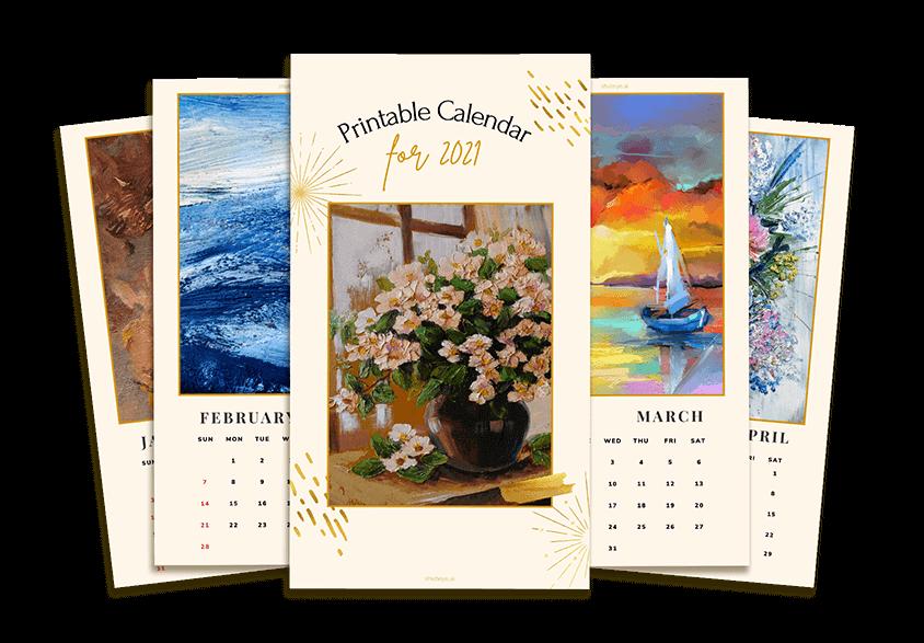 ShutEye free printable calendars monthly calendar 2021