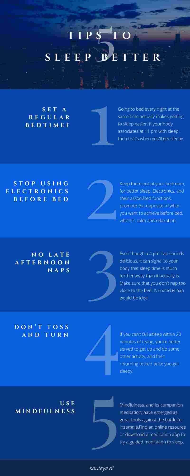 ShutEye sleep better tips sleep hygiene improve sleep quality