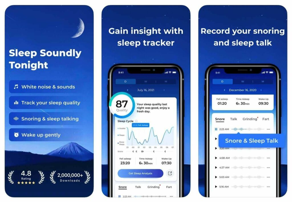 Best Sleep Talk Recording App ShutEye helps record snoring and sleep talking